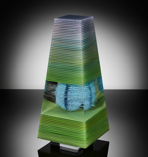 Green Pyramid . 20 x 20 x 60 cm . 2020